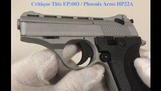 Phoenix Arms HP22A .22lr Pocket Pistol Review