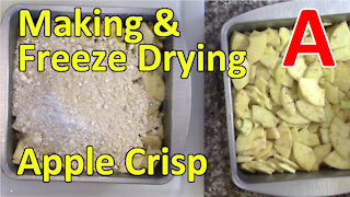 Making and Freeze Drying Apple Crisp and a Rehydration Test