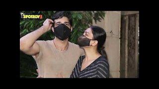 Sushmita Sen with beau Rohman Shawl Spotted at Bandra   SpotboyE