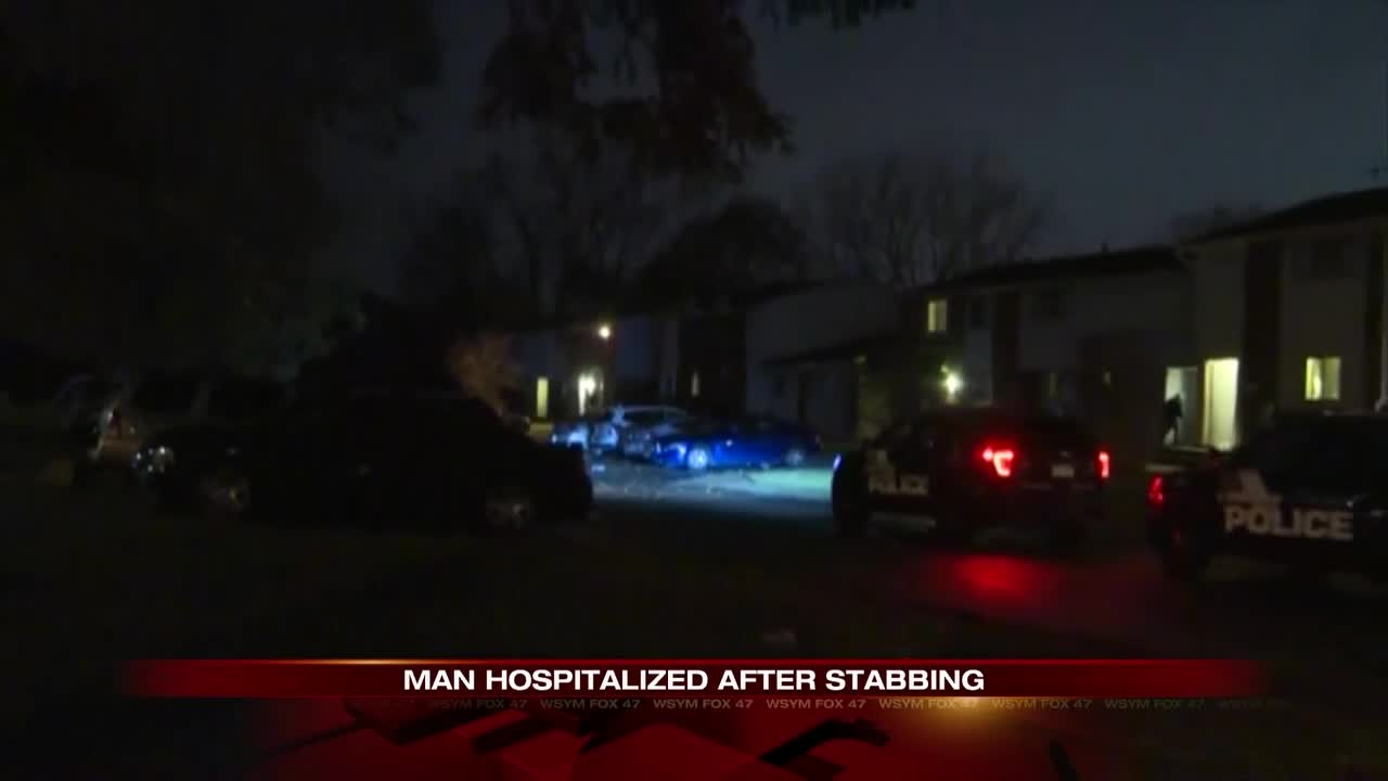 Man hospitalized after stabbing