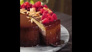 Delicious Chocolate Cake with Raspberries
