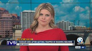 Toddler dies in washing machine
