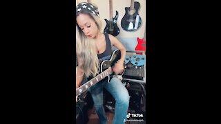 Jamming on Guitar