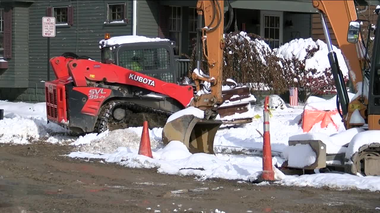 Winter storm delays Wardman Road construction