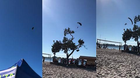Crazy Santa Parachute Stunt GONE WRONG