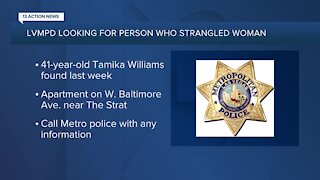 Las Vegas police looking for person who strangled woman in Naked City neighborhood