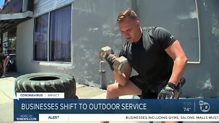 Businesses shift to outdoor service