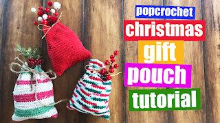 Crochet Christmas Gift Pouch