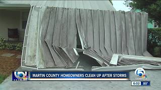 Martin County homeowners pick up after tornado briefly touches down