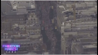 6.2021 LONDON FREEDOM MARCH LIVE BY THOUSANDS