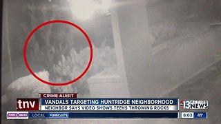 Vandals target Huntridge neighborhood