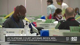 Arizona Supreme Court affirms Biden win