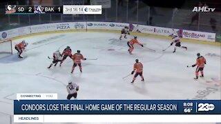 Condors lose final home game of regular season