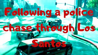 Following a police chase through Los Santos — GTA 5