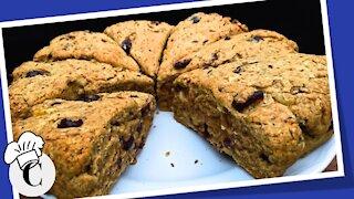 Cranberry Walnut Scones! An Easy, Healthy Recipe!
