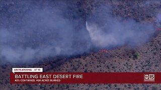 Crews battling 'East Desert Fire'