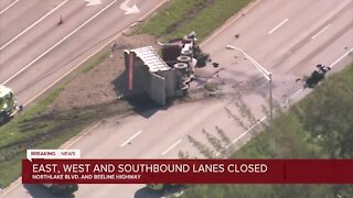Fatal crashes closes Beeline Highway at Northlake Boulevard in West Palm Beach