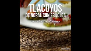 Nopal Tlacoyos with Beans