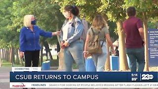 CSUB students return to campus