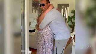 Father and son from West Palm Beach surprise relatives in France