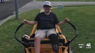 Leavenworth boy's lawnmower stolen Tuesday morning