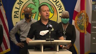 Palm Beach County leaders give update on COVID-19 cases, hospitalizations