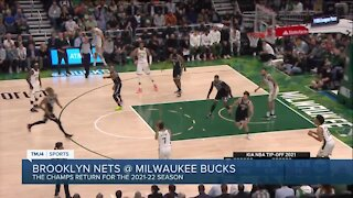 Bucks begin title defense with 127-104 victory over Nets