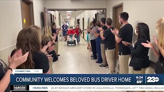 Missouri community welcomes back bus driver who battled COVID