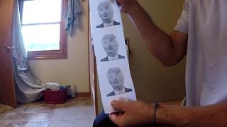 Presidential toilet paper make america wipe again