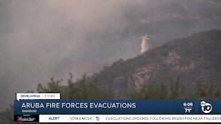 Aruba Fire in Rainbow area forces evacuations