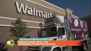 AM Buffalo live at Walmart for Buffalo Strong Back-to-School Food Drive for Feedmore WNY