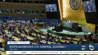 President Biden addresses UN General Assembly for first time