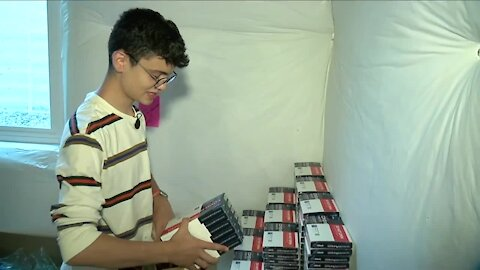 Erie teen offers and delivers free COVID-19 test kits to metro area communities