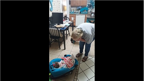 Grandma Cries Tears Of Joy When She Meets Her Granddaughter For The Very First Time