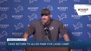 Fans return to Lions training camp for first time since 2019