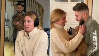 A surprise puppy gift gets the purest reaction ever