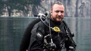 Mergulhador resolve usar seu equipamento dentro de casa!