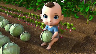 Learn Fruits And Vegetables for Babies & Kids | Funny Cartoon for Children