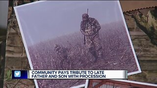 Downriver community pays tribute to late father and son with procession