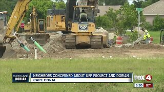 Neighbors concerned about UEP construction and rain from Hurricane Dorian