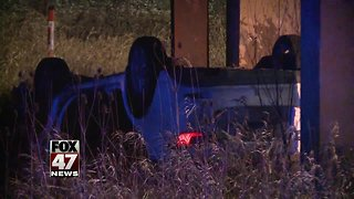 Police investigating rollover accident in East Lansing