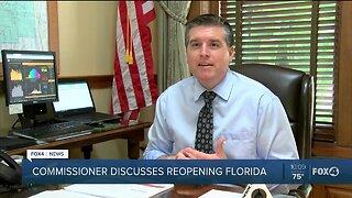 Commissioner Discusses reopening Florida