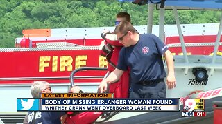 Body of woman who fell off boat recovered from Ohio River