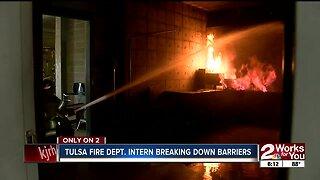 Tulsa fire dept. intern breaking down barriers