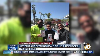 Pacific Beach restaurant offering deals to help neighbors