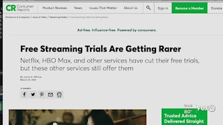 Streaming services dropping trial periods