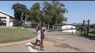 SOUTH AFRICA - KwaZulu-Natal - Fallen power pole (Video) (4K7)