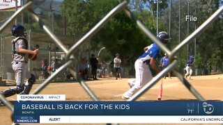 Baseball returns for San Diego kids with limits