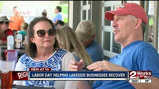 Labor Day helping lakeside businesses recover