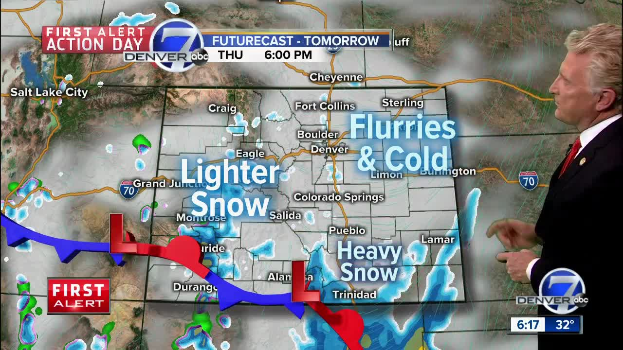 First Alert Action Day: Snow for metro Denver tonight and Thursday